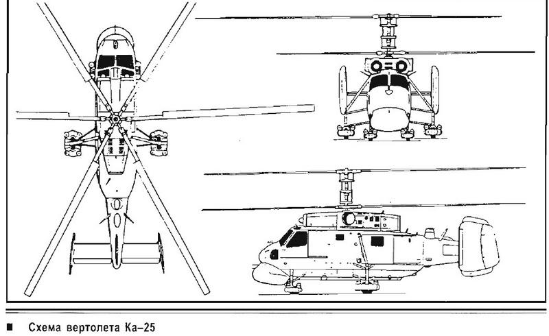 Чертежи вертолёта соосной схемы
